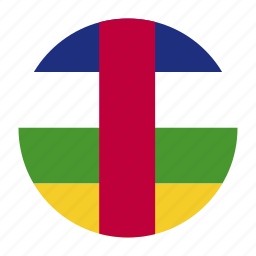 africa, african, africancountry, caf, central, flag, republic icon