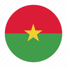 africa, bfa, burkina, country, faso, flag, west icon
