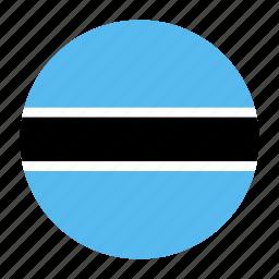 africa, african, botswana, bwacountry, flag, gaborone icon