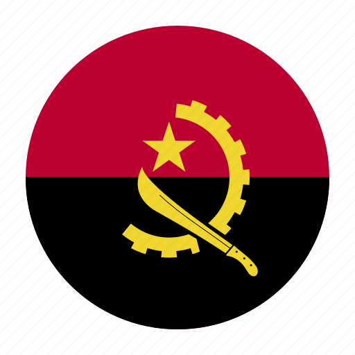 africa, africancountry, angola, angolan, flag, kwanza, luanda icon