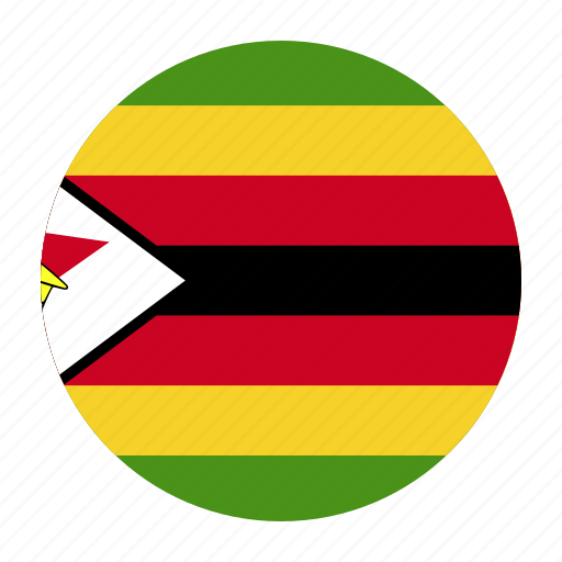 africa, african, country, flag, zimbabwe, zwe icon