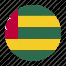 africa, flag, tgocountry, togo, west icon