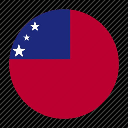 apia, country, flag, oceania, samoa, samoan, wsm icon