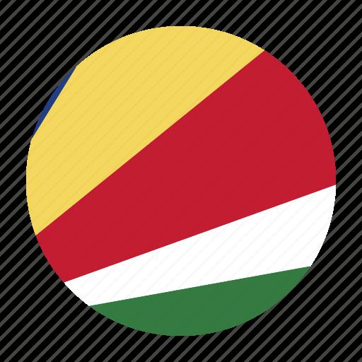 africa, african, flag, seychelles, seychellois, syccountry icon