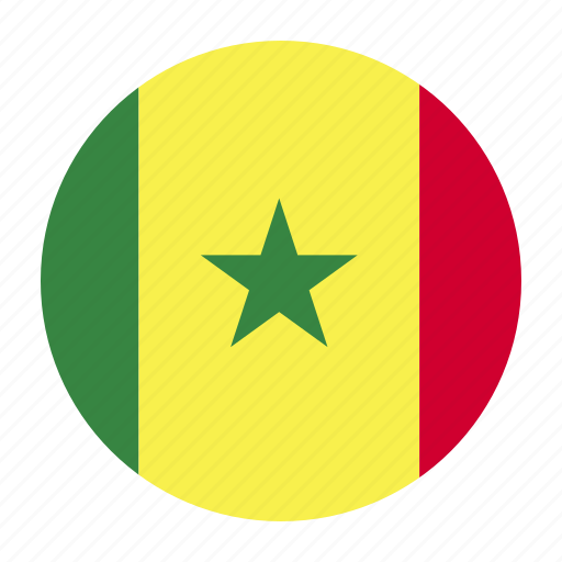africa, african, country, dakar, flag, sen, senegal icon