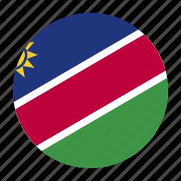 africa, country, flag, nam, namibia, namibian, southern icon