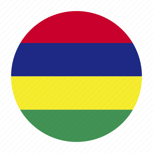 africa, african, flag, mauritius, muscountry, west icon