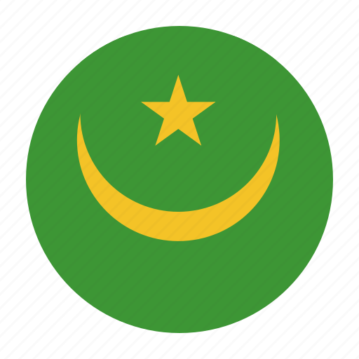 africa, african, flag, mauritania, mauritanian, mrtcountry icon