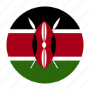 africa, african, country, flag, ken, kenya, kenyan icon