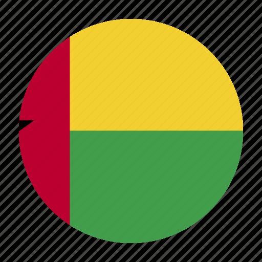 bissau, country, flag, gnb, guinea, guinea bissau icon