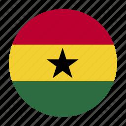 cedi, country, flag, gha, ghana, ghanaian icon