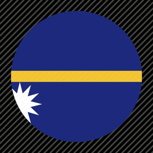 districtcountry, flag, nauru, nru, oceania, yaren icon