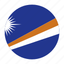 country, flag, marshall, mhl, oceania icon