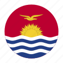 country, flag, kir, kiribati, kiribatian, oceania icon