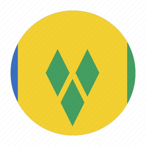 caribbean, country, flag, grenadines, saint, vct, vincent icon