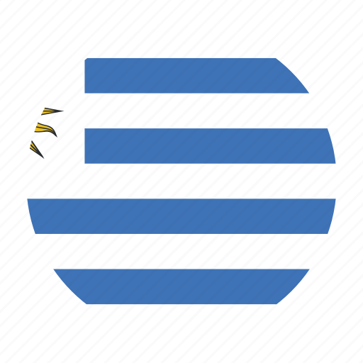 america, country, flag, south, uruguay, ury icon