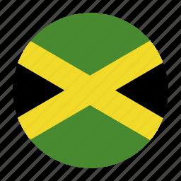 caribbean, country, flag, jam, jamaica, jamaican icon