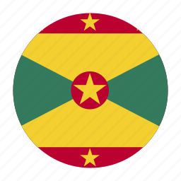 caribbean, country, east, flag, grd, grenada icon