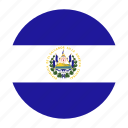 america, central, country, el, flag, salvador, slv icon