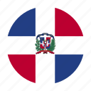 caribbean, country, dom, dominican, flag, republic icon