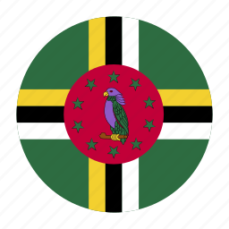 caribbean, country, dma, dominica, flag icon