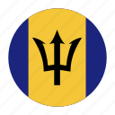 barbadian, barbados, brb, caribbean, country, flag icon