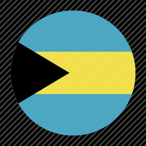 bahamas, bahamian, bhs, caribbean, country, flag icon