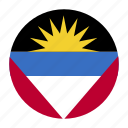 and, antigua, atg, barbuda, country, flag icon
