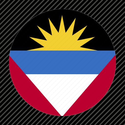 and, antigua, atg, barbuda, country, flag icon