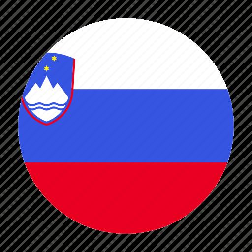country, europe, european, flag, slovenia, slovenian, svn icon