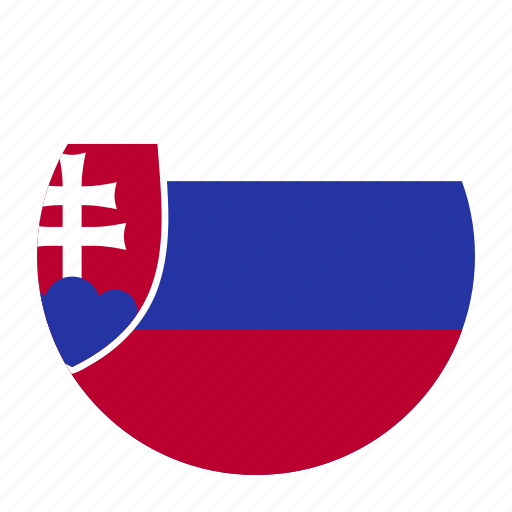 country, europe, flag, slovakia, slovakian, svk icon