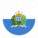 europecountry, flag, marino, san, serene icon