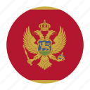 balkans, country, flag, mne, montenegro icon
