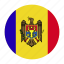 country, europe, flag, mda, moldova, moldovan icon