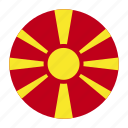 balkans, country, flag, fyrom, macedonia, macedonian, mkd icon