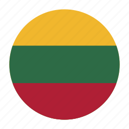 country, europe, europen, flag, lithuania, ltu icon
