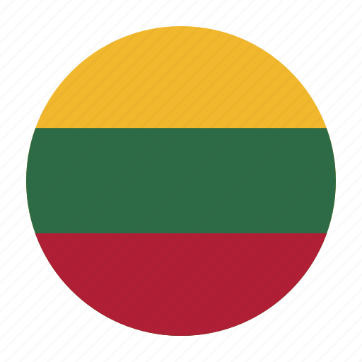 country, europe, europen, flag, lithuania, ltu icon