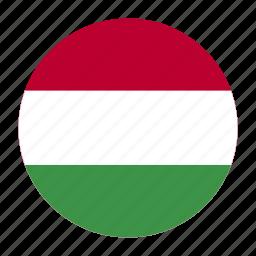 country, europe, europen, flag, hun, hungarian, hungary icon