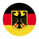 deu, europe, flag, german, germany icon