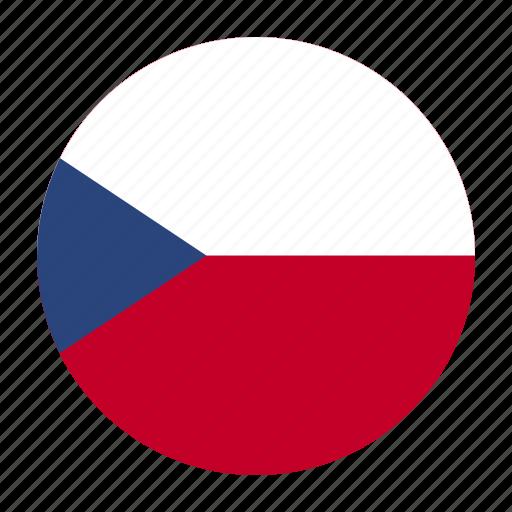 country, cze, czech, europe, flag, koruna, republic icon