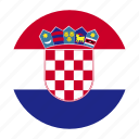country, croatia, croatian, europe, european, flag, hrv icon