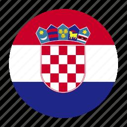 country, croatia, croatian, europe, european, flag, hrv icon