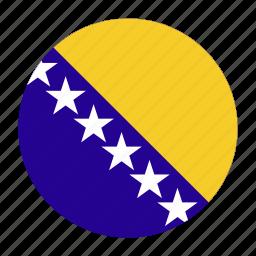 balkans, bih, bosnia, country, flag, herzegovina, sarajevo icon