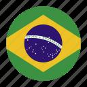 brazil, country, flag, bra, brazilian icon