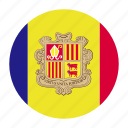 andorra, catalan, country, europe, european, flag icon