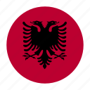 alb, albania, albanian, country, flag, lek, tirana icon