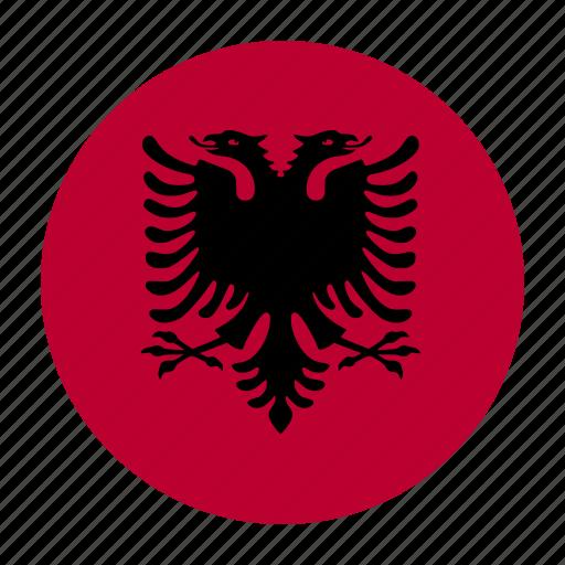 alb, albania, albanian, country, flag, lek, tirana icon