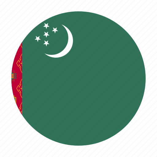 asia, asian, country, flag, tkm, turkmen, turkmenistan icon