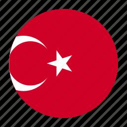 country, flag, tur, turkey, turkish icon