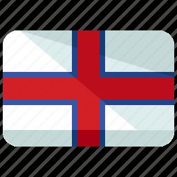 country, europe, faroe, flag, islands, map, world icon
